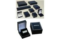 Luxusní krabička - imitace kůže se zlatým proužkem,krabička,semišová vložka a otvírání pomocí pantu